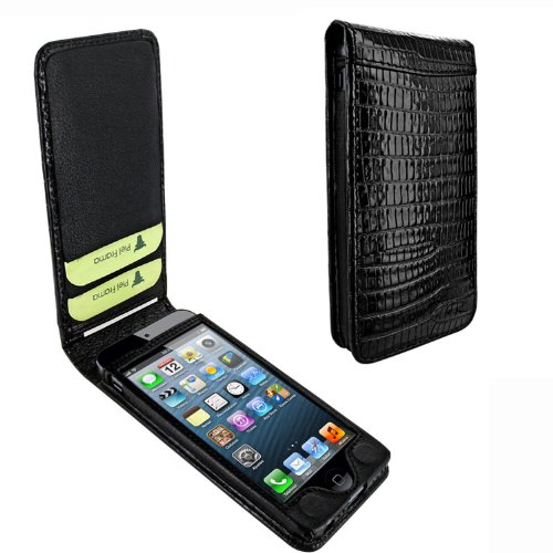 Best Price Apple iPhone 5 / 5S Piel Frama Black Lizard Magnetic Leather Cover