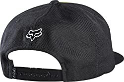 Fox Racing Mens RCH Select Snapback Adjustable Hat, Black/Yellow, One Size
