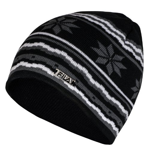 Fila Mauro Knitted Nordic Beanie Hat - Black images