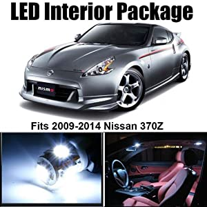 Amazon.com: Classy Autos Nissan 370Z White Interior LED Package (5