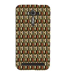 Abstract Painting Cute Fashion 3D Hard Polycarbonate Designer Back Case Cover for Asus Zenfone 2 Laser ZE601KL (6 INCHES)