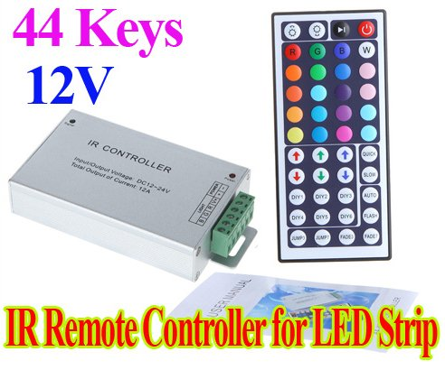 Hkbayi Dc 12V 44 Key Led Ir Remote Controller For Rgb Smd 5050 3528 Led Strip Light With Auto Memorizing Function
