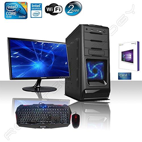 PC DESKTOP CASC02 LED BLU INTEL QUAD CORE CON WINDOWS 10 PROFESSIONAL 64 BIT ORIGINALE/WIFI/HD 1TB SATA III/RAM 8GB 1600MHZ/HDMI-DVI-VGA/USB 2.0 3.0 SD AUDIO,VIDEO,LAN/MONITOR 22 LED HD SAMSUNG VGA ATTACCO VESA/TASTIERA E MOUSE GAMING MULTICOLOR / PC FISSO COMPLETO PRONTO ALL'USO MULTIMEDIALE,GIOCHI,UFFICIO,GAMING ALANTIK CASC02
