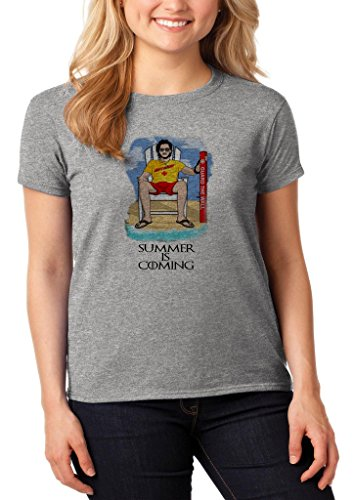 GameOfThrones Jon Snow In Iron Pool Party Chair Summer Is Coming Women' s Shirt Custom Made T-shirt (S)