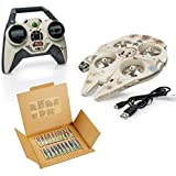Star Wars Millennium Falcon Toy Drone with 20-Pack AA Batteries
