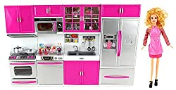 Power Trc Full Deluxe Kit Battery Operated Toy Doll Kitchen Playset W/ Toy Doll, Lights, Sounds, Perfect For Use With 11 12