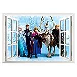 Vktech Frozen Anime Removable Vinyl W...