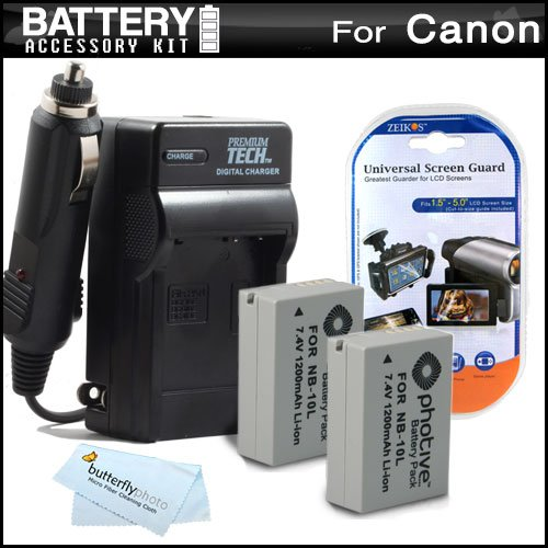 Buy 2 Pack Battery And Charger Kit For Canon PowerShot SX40 HS SX40HS