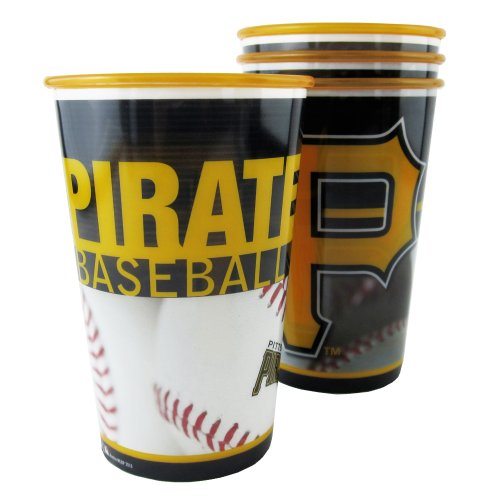 MLB Pittsburgh Pirates Souvenir Cups (4-Pack), 20-Ounce