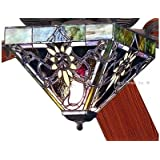 """52"""" Solstice Tiffany Stained Glass Ceiling Fan"""