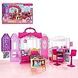 Barbie - Maison portable - Glam maison avec des meubles Ameublement