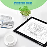 """Dbmier 17.8 Inch (Diagonal) USB Mode A4 LED Artcraft Tracing Light Pad Light Box (A4S) - With 78.74"""" USB Cord and 10 Pieces of Tracing Paper"""