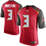 Jameis Winston #3 Tampa Bay Buccaneers Jersey (Red)(Adult)