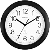 Acctim Aragon Black Radio Controlled MSF Signal Wall Clock 74513
