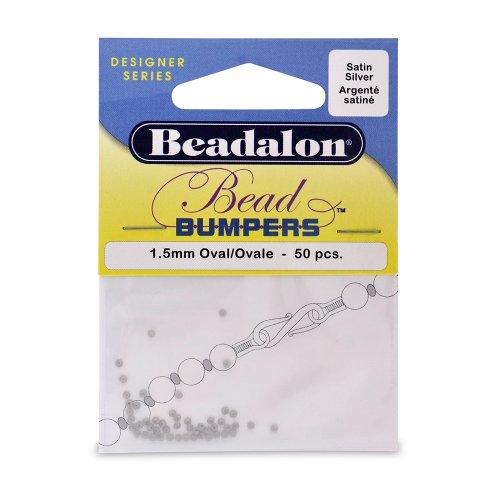 Beadalon Bead Bumper Satin Silver, 50-Piece (Beadalon Bead Bumpers compare prices)