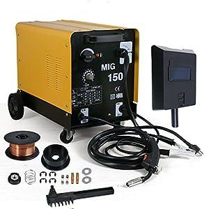 Smartxchoices 140AMP MIG-150 Flux Core Welder Welding Machine 110V/60Hz Dual Mode-Gas/No Gas Welder (MIG150) by Smartxchoices