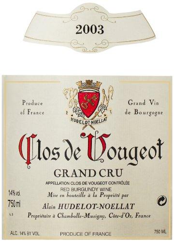 2003 Alain Hudelot-Noellat Clos De Vougeot Grand Cru 750 Ml