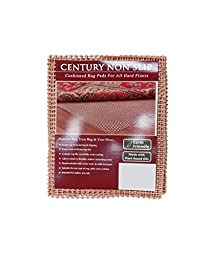 NaturalAreaRug Century Non Slip Rug Pad Earth Friendly Provides Extra Cushion For All Hard Surfaces of size  12\' x 15\'. Heavier and Thicker than Most Rug Pads