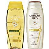 Manzanilla (Chamomille) Shine & Repair Shampoo & Silky & Shine Conditioner Set 400ml by Grisi