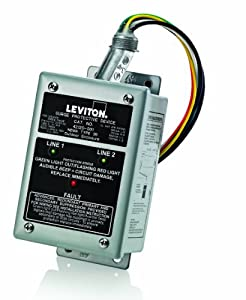 Leviton 42120-1 120/240 Volt Single Phase Panel Protector, 4-Mode Protection, Commercial Grade, NEMA 3R Enclosure