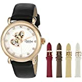 Stuhrling Original Women's 108EH.12452 Amour Cupid Valentine Swarovski Crystal-Accented 16k Rose Gold-Tone Watch Gift Set