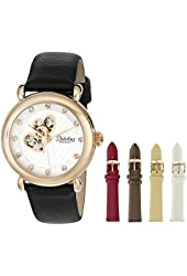 Stuhrling Original Women's 108EH.12452 Amour Cupid Valentine Swarovski 16k Rose Gold-Tone Watch Gift Set