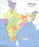 #6: India Political Wall Map - Synthetic (70 x 83 cm)