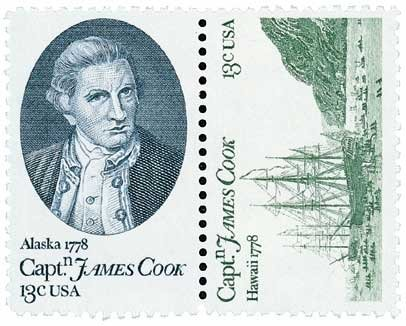 #1732-33 - 1978 13c Captain Cook U. S. Postage Stamp Plate Block (20)