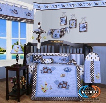 Boutique Sea Turtle Crib Bedding