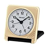 Seiko Travel Alarm Clock, Plastic, Analogue, QHT015G gold
