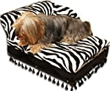 Fantasy Furniture Mini Chaise Zebra Pet Bed