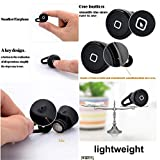 Mo2mo@ mini Stereo Wireless Bluetooth Earbuds Headsets Headphones w/Microphone Exercise Handsfree Earphones Earpieces for iPhone 5s 5c 4s 4iPad 2 3 4 New iPad iPod Android Samsung Galaxy Smart Phones Bluetooth Devices (Black)