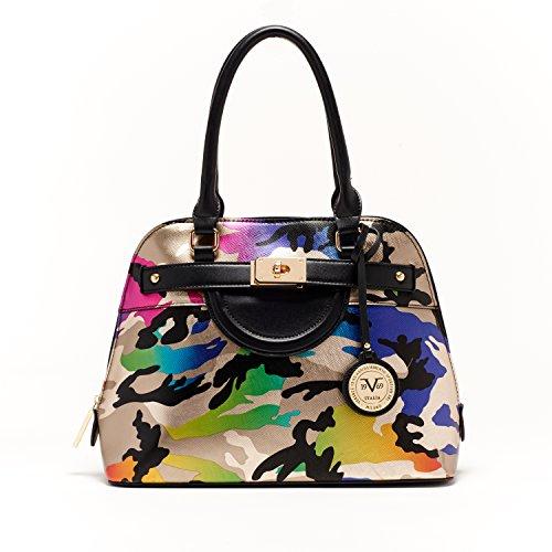 3d20d1efd044 V1969 Italia Womens Designer Henley Dome Satchel Camo Handbag by VERSACE  19.69 ABBIGLIAMENTO SPORTIVO SRL