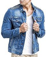 LEIF NELSON Jeans Jeansjacke mit Nieten LN8003