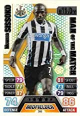 Match Attax 2013/2014 Moussa Sissoko Newcastle United 13/14 Man Of The Match