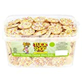 Tuck Shop White Chocolate Flavour Disco Disks 120 Candy Pieces