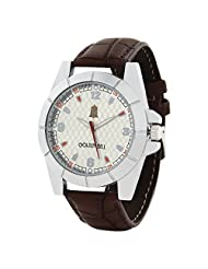 Golden Bell Stylish White Sporty Dial Watch