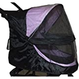 Pet Gear Happy Trails Weather Cover for No Zip Pet Stroller, Black
