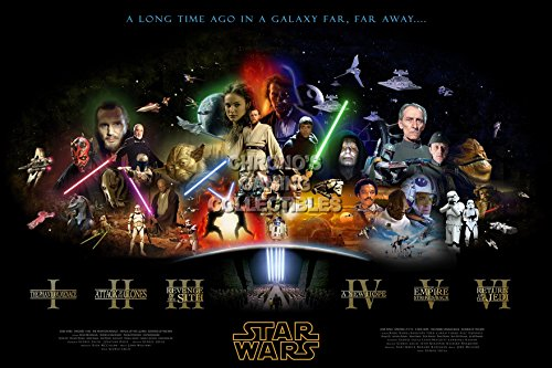"CGC Huge Poster - Star Wars Saga Episode I II III IV V VI Moive Poster - STW001 (24"" x 36"" (61cm x 91.5cm))"