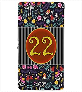 PrintDhaba Numerology Number 22 D-3110 Back Case Cover for SONY XPERIA C3 (Multi-Coloured)