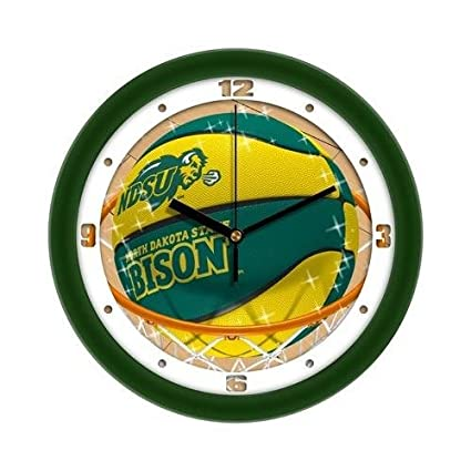 "North Dakota State Bison Slam Dunk 12"" Wall Clock"