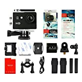 Yuntab Mini 30-Meter Waterproof Sport DV HD 1080P A9 Extreme Action Camera 5MP 15FPS, Helmet Camera Cam DV Action Camcorder