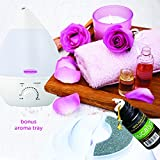 """Remedies, Ultrasonic Humidifier - Cool Mist Humidifier with Aroma Diffuser, 7 Color LED Lights, Auto Shut-off. 2.8 Liter Tank, Lasts All Night Humidifier """"Bonus Aroma Tray Included"""""""