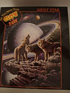 'Wolf Star' Wolves 550 Pc Glow in the Dark Puzzle