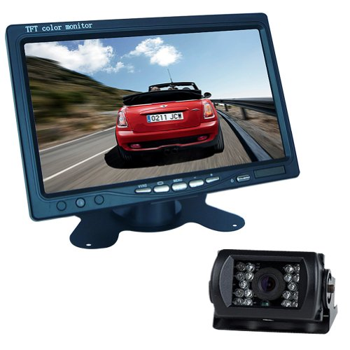 "Generic 7"" Lcd Monitor Bus Lorry Car Rearview Waterproof Reversing Camera+10M Video Cable"