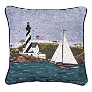 Coastal Breeze Decorative Accent Pillow 17 x 17 USA Made