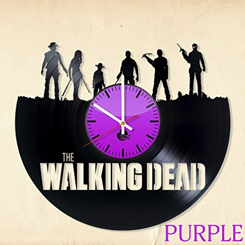 THE-WALKING-DEAD-HANDMADE-Vinyl-Record-Wall-Clock-Get-unique-home-room-wall-decor-Gift-ideas-for-boys-and-girls-friends-Movie-AMC-Unique-Art-Leave-us-a-feedback-and-win-your-custom-clock