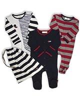The Essential One - Baby Jungen Schlafanzuge/Schlafanzug/Einteiler/ Strampler (3-er Pack mit Beutel) - ESS109