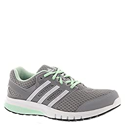 adidas Performance Women\'s Galaxy Elite W Running Shoe, Mid Grey/White/Frozen Green, 9.5 M US