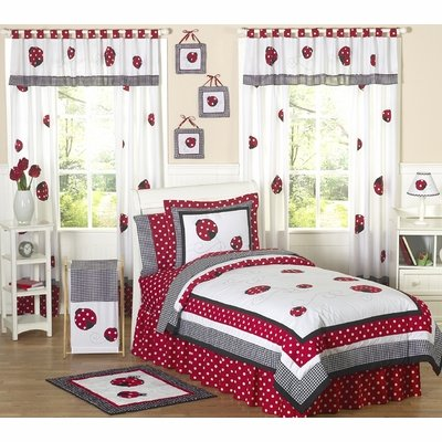 Sweet Jojo Designs Polka Dot Ladybug Collection Children'S Bedding - 4-Piece Twin Set front-230979